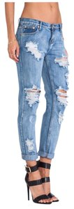 One Teaspoon Awesome Baggies Destroyed Skinny Relaxed Fit Jeans-Distressed