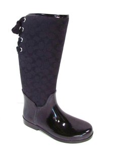 Coach Signature Spring Weather Casual Black Boots