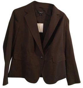 Talbots Petite Jacket Suit Brown Blazer