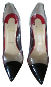 Christian Louboutin Clear Black and Red Pumps