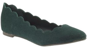MIA Ballet Slip On New In Box Scalloped Emerald Green Flats