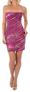 Just Cavalli short dress Pink Summer Made In Italy Mini Tight on Tradesy