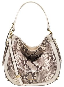 Michael Kors Julia Python Embossed Shoulder Bag