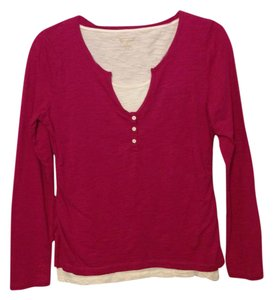 New Directions Top Magenta & Ivory