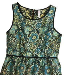 Xhilaration short dress Green Floral Shiny on Tradesy