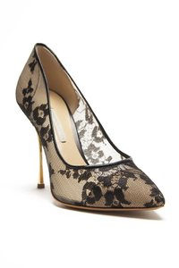 Nicholas Kirkwood Sheer Lace Red Carpet Cocktail New In Box Black Lace Pumps