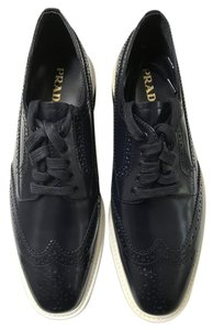 Prada Leather Oxford Navy, Baltic Platforms
