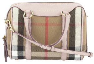Burberry Like New Cross Body Tote Satchel in Blush / light pink