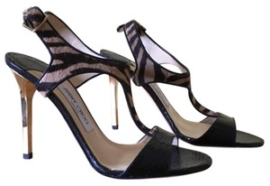 Jimmy Choo Brown, Black, Gold Formal