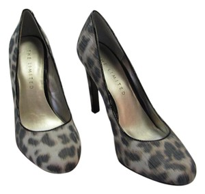 The Limited Size 8.00 M Reptile Design Leather Soles Very Good Condition Black, Brown, Taupe, Pumps