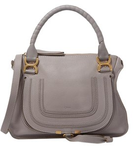 Chloé Chloe Medium Marcie Textured Leather New Tote in gray