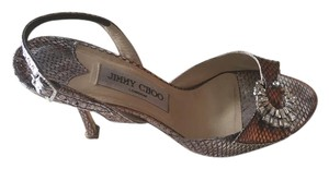 Jimmy Choo Swarovski Detail Metallic Lilac Sandals