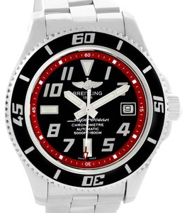 Breitling Breitling Superocean 42 Abyss Black Red Dial Steel Mens Watch A17364