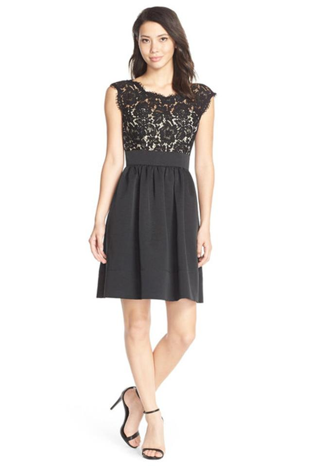 Eliza J Black Lace & Faille --size 14 Short Cocktail Dress Size 16 ...