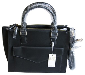 Urban Expressions Vegan Leather Satchel in Black
