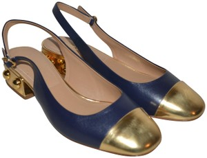 Michael Kors Collection navy gold Pumps