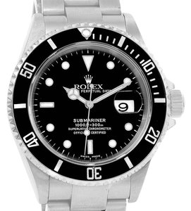 Rolex Rolex Submariner Stainless Steel Black Dial Mens Watch 16610