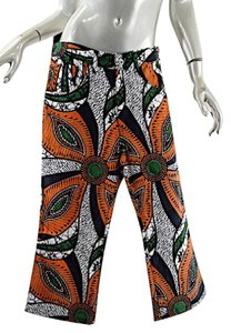 Junya Watanabe Comme Des Garcons Capri/Cropped Pants Orange, Green, White & Black