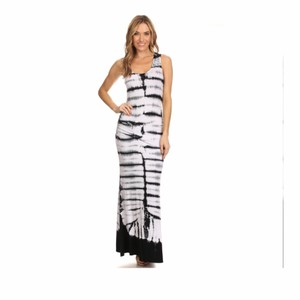 Black & White Maxi Dress by York Couture