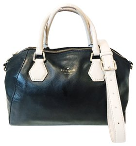 Kate Spade Satchel in Black and Ostrich
