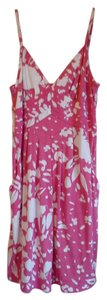 hot pink and white floral Maxi Dress by american eagle outfitters