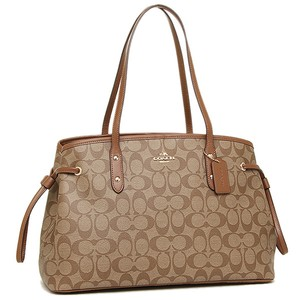 Coach Monogram Logo Classic Tote in Brown