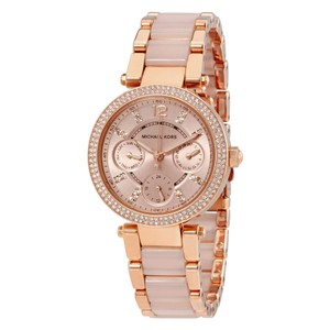 Michael Kors Michael Kors Women's Rose Gold-Tone Mini Parker Watch MK6110