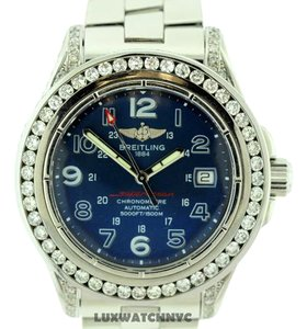Breitling BREITLING SUPEROCEAN S/S 5CT DIAMONDS WATCH MODEL A17360 W APPRAISAL