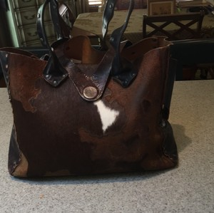 CYDWOQ Tote in brown and white