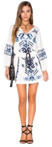 Free People short dress white blue on Tradesy