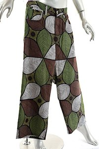 Junya Watanabe COMME des GARONS 100% Linen Moroccan Capri/Cropped Pants Brown, White, Green, Black