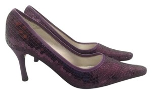 Caparros Sequin Heels Purple Pumps