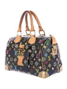 Louis Vuitton Speedy Multi Color Monogram Tote in Black Multi