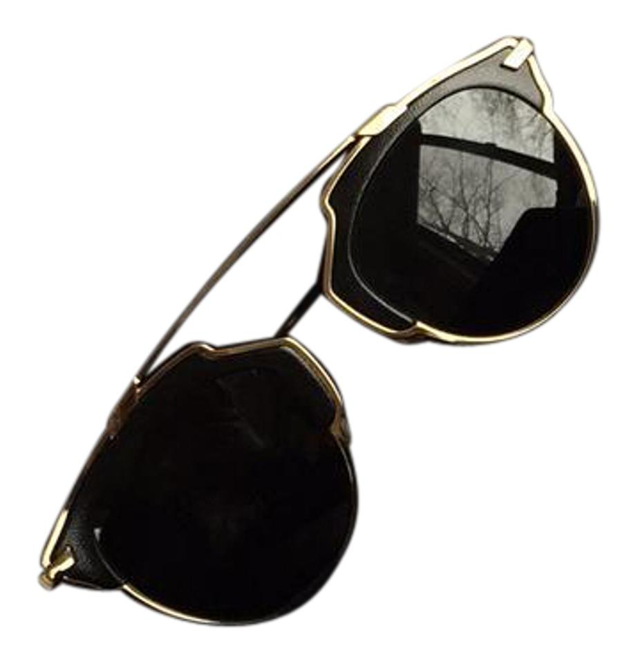 f2361d4d682a Dior Black and Gold So Real Sunglasses - Tradesy