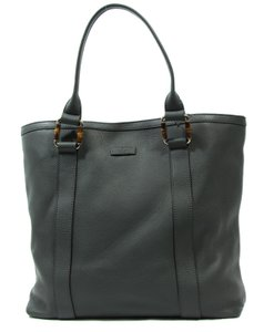 Gucci 339547 Leather Bamboo Tote
