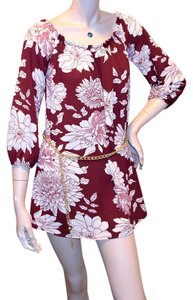 Papermoon Chain Polyester Floral Top BROWN
