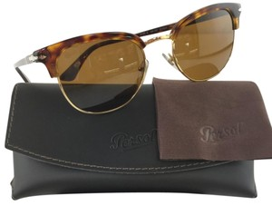 Persol Hand Made Clubmaster Crystal Lens 3105-S 24/33 Havana Metal Plastic Sunglasses 145mm