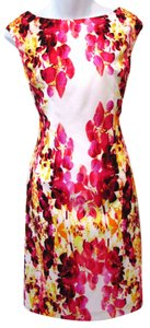 Adrianna Papell Floral Bright Bold Summer Spring Dress