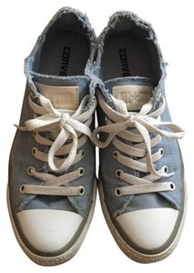 Converse Leather Tag All Star Chuck Taylor Sky blue and white Athletic