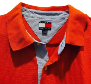 Tommy Hilfiger Polo Men's Clothing Button Down Shirt orange