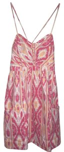 American Eagle Outfitters short dress yellow tangerine pinks & lilac Southwest inspired pattern on Tradesy