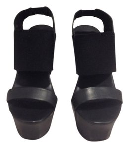 United Nude Wedge Platform Black Wedges