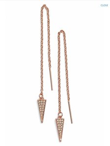 Rebecca Minkoff New! Rebecca Minkoff Pave Triangle Threader Earrings