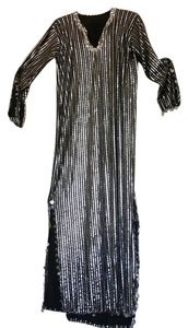silver & Black Maxi Dress by Other