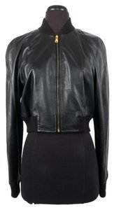 Dolce&Gabbana Dolce & Gabbana Leather Bomber Black Jacket