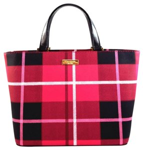 Kate Spade Satchel in Pink Black Plaid plaidswpin 780