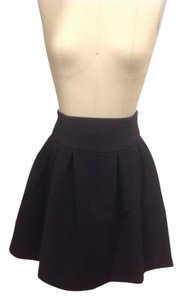 Nanette Lepore A-line Textured Skirt Black