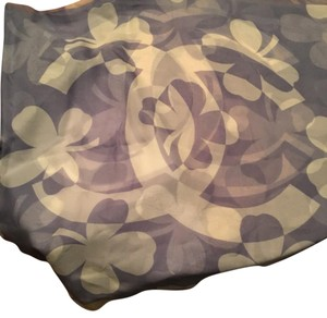 Chanel shamrock silk scarf