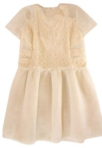Sea New York short dress White Lace Embroidered Perforated on Tradesy