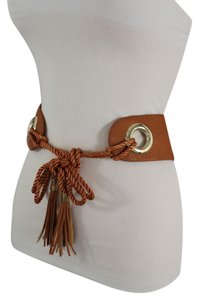 Other New Women Hip Waist Brown Wide Faux Leather Tie Fashion Belt Fringes